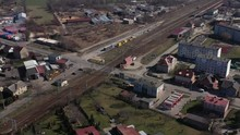 Aerial Wide Angle View Of A Ne...
