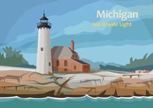 Isle Royale Light, Northern Mi...