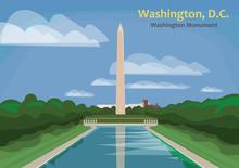 Washington Monument, Obelisk On The National Mall In Washington, D.C., United States