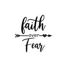 Faith Quote Lettering Typograp...