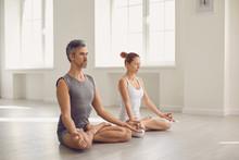 Yoga Couple People Hand Sittin...