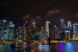 city by night, singapore