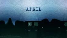 April Word Closeup Being Typin...