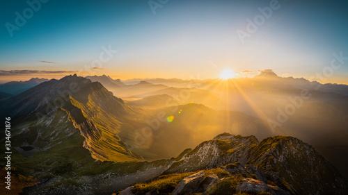 Fotografie, Obraz Vue sur le Mont-Blanc du Mont Charvin