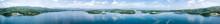Panorama Of Green Mountains An...