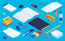 Office And School Stationery Elements Set