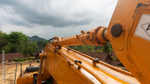 Vászonkép Excavators at the mine site