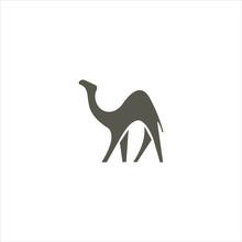 Camel Logo Vector Design Templ...