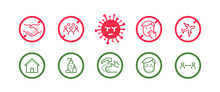 Coronavirus Icon Set For Infog...