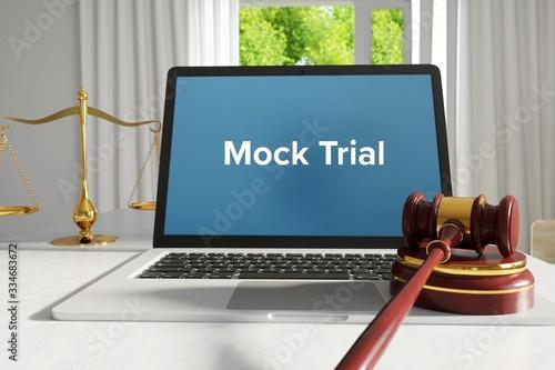Mock Trial – Law, Judgment, Web Canvas Print
