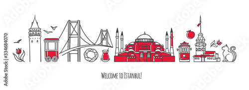 Photo Vector modern illustration Istanbul