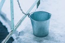 Metal Bucket. A Frozen Bucket ...