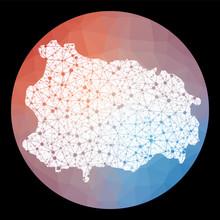 Vector Network Ischia Map. Map...