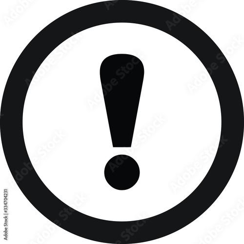 Obraz Caution icon danger warning icon - fototapety do salonu