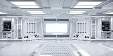 Futuristic Sci-Fi Hallway Inte...