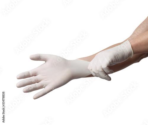 Photographie latex glove protective protection virus corona coronavirus disease epidemic medi