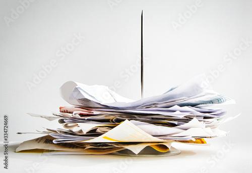Canvas Print Buchhaltung beginnt mit der Sammlung von Quittungen