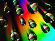 Rainbow Diffraction On Glass