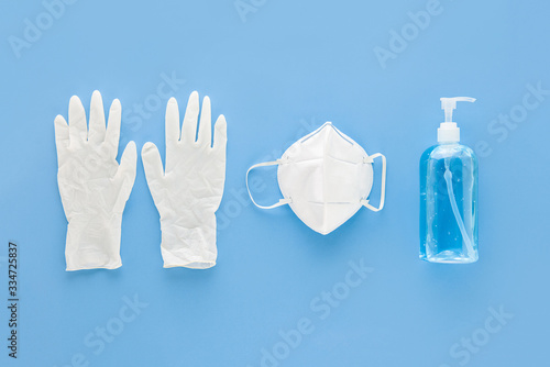 Tela Medical gloves mask and alcohal gel sanitizer for protecting infection during CO