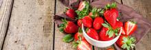 Heap Of Fresh Organic Strawber...