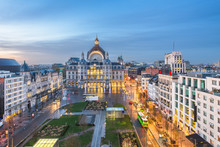 Antwerp, Belgium Cityscape At ...