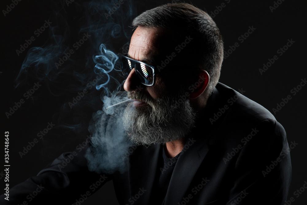 Fototapeta Homme fumeur