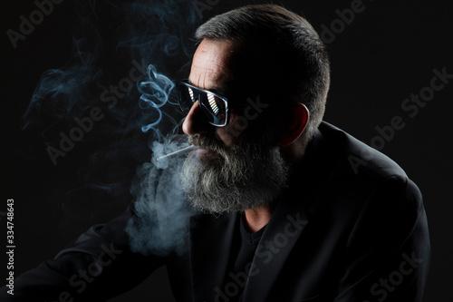 Fotografiet Homme fumeur
