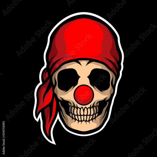 pirate clown skull Canvas Print