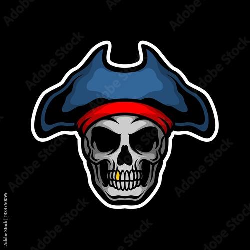 pirate king skull Canvas Print