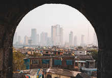 Contrast Between Poverty And Wealth In Mumbai, India