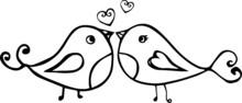 Illustration Of Lovely Birds