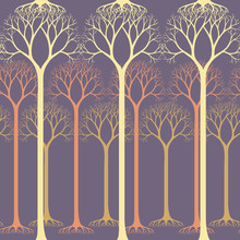 Seamless Pattern With Barren T...