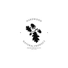 Hardwood. Logo Template. Oak T...