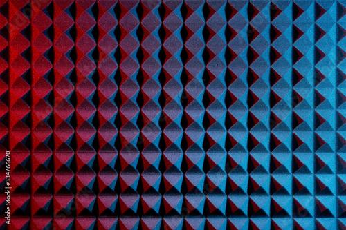 Obraz na plátně Music background. Acoustic foam panel