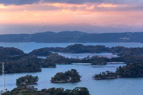 Photo 日本三景・松島、大高森展望台からの夕景