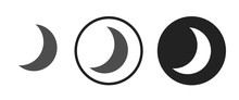 Waning Crescent Moon Icon . We...