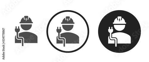 Obraz Electrician icon . web icon set .vector illustration - fototapety do salonu