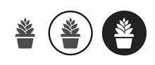 Flower Pot Icon . Web Icon Set...