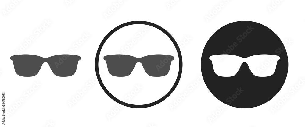 Fototapeta Sunglasses icon . web icon set .vector illustration