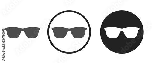 Obraz Sunglasses icon . web icon set .vector illustration - fototapety do salonu