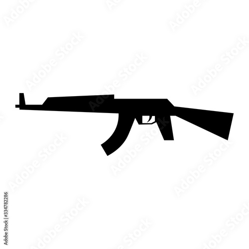 Machine sign black icon ak 47. Vector illustration eps 10 Wallpaper Mural