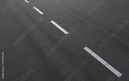 Asphalt road with lines 3d rendering Fototapete
