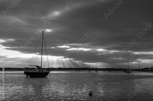 Stormy day at Old Leigh, Leigh-on-Sea, Essex, England Canvas Print