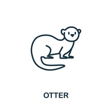 Otter Icon From Wild Animals Collection. Simple Line Otter Icon For Templates, Web Design And Infographics