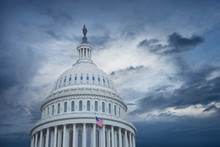 US Capitol Dome Under Stormy S...