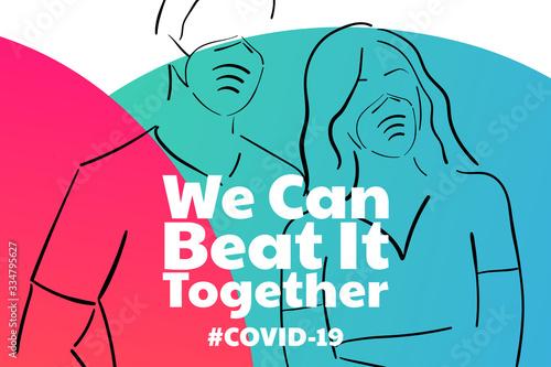 Cuadros en Lienzo Inspirational positive quote about novel coronavirus covid-19 pandemic