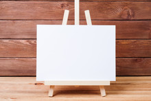 Easel On A Wooden Table