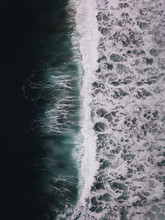 Pacific Wave Abstract Aerial View