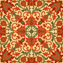 Oriental Pattern With Pomegran...