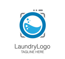 Laundry Logo Vector Design Tem...
